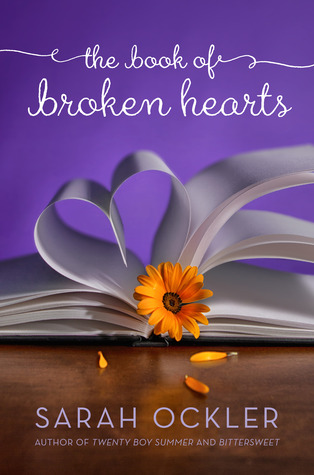 Book cover for The Book of Broken Hearts by Sarah Ockler