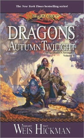 Book cover Dragons of Autumn Twilight Margaret Weis and Tracy Hickman