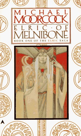 Book cover Elric of Melnibone Michael Moorcock